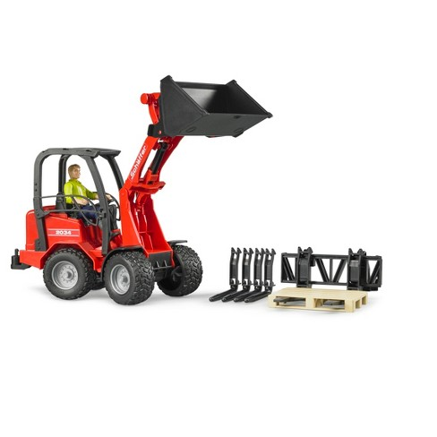 Bruder Toys Schaffer Compact Loader 2034 with Figure and Accessories - 1/16 Scale Realistic, Functional Toy Agriculture Vehicle - image 1 of 4