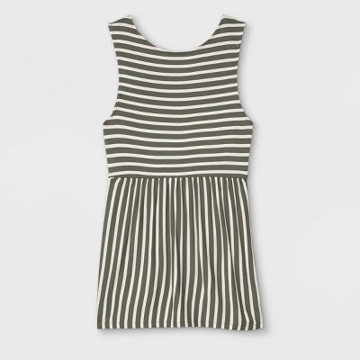 Maternity Striped Knit Tank Top - Isabel Maternity by Ingrid & Isabel™ Olive Green