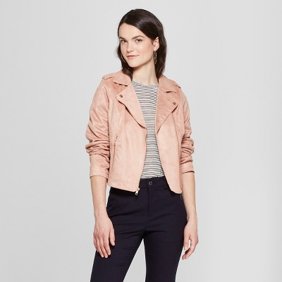 e83a55a7a68 Women s Suede Moto Jacket - A New Day™   Target