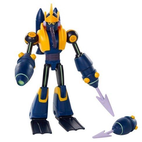 """Mega Man Fully Charged 6"""" Wave Man with Cannon Accessory Figure - image 1 of 4"""