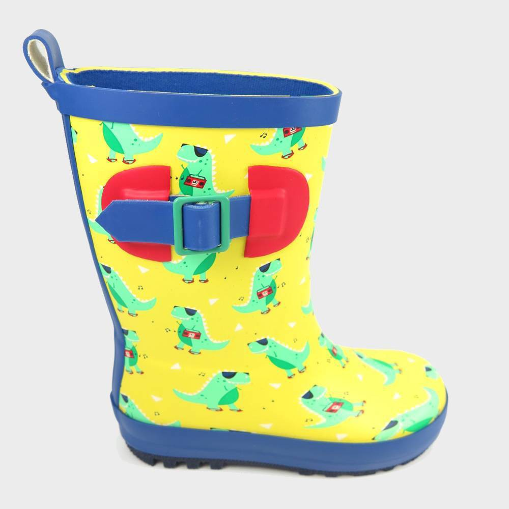 Image of Boys' Rain Boots Dino Yellow L - Sun Squad , Boy's, Size: Large