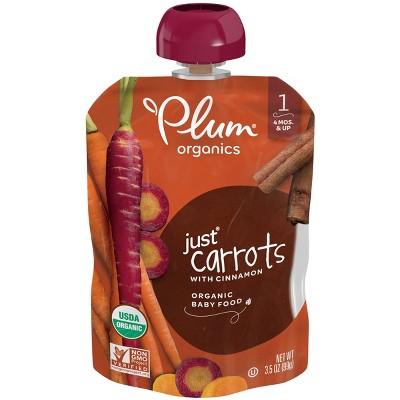 Plum Organics Stage 1 Veggie Just Carrot Baby Meals - 3.5oz