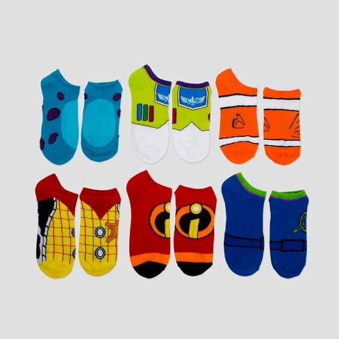 Women's Disney Pixar 6pk Low Cut Socks - Assorted Colors One Size - image 1 of 1