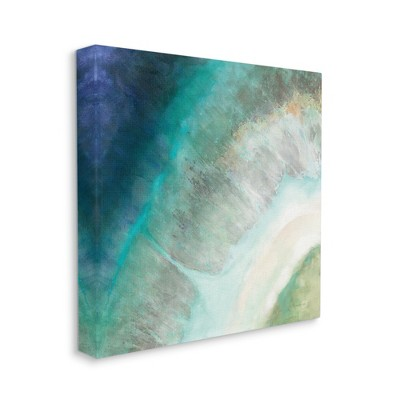 Stupell Industries Abstract Blue Green Organic Curve Painting