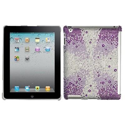 MYBAT For Apple iPad 2/3/4 Pink White Hard Rhinestone Case