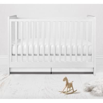 Bacati - MixNMatch Gray Band Crib/Toddler ruffles/skirt