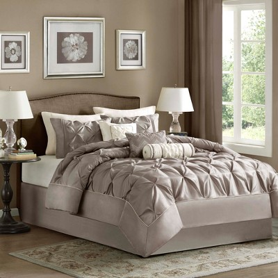 Piedmont Comforter Set (King)Taupe - 7pc