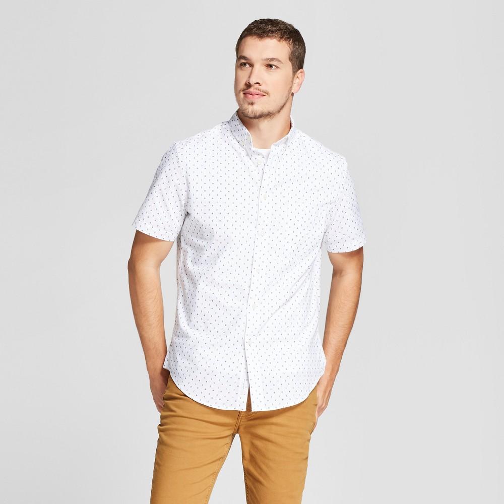 Men's Short Sleeve Soft Wash Standard Fit Button-Down Shirt - Goodfellow & Co White XL