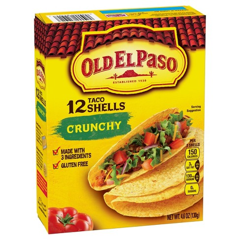 Old El Paso® Crunchy Taco Shells Gluten Free 4.6 oz : Target