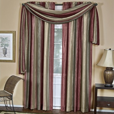 GoodGram Royal Ombre Crushed Semi Sheer Complete 3 Pc. Window Curtains & Scarf Set