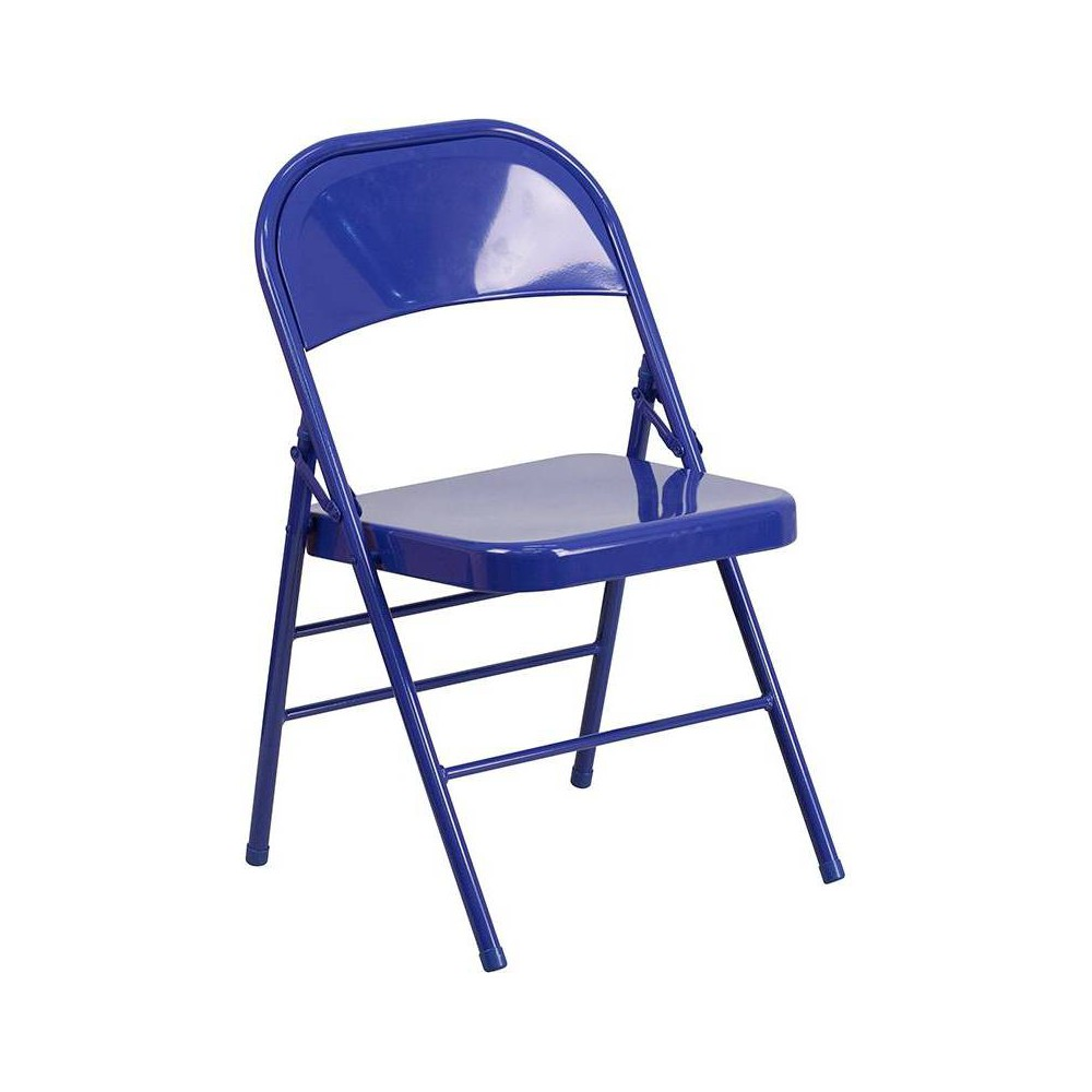 Riverstone Furniture Collection Folding Chair Cobalt Blue