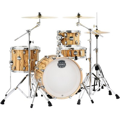 """Mapex Mapex Mars Series 4-Piece Bop Shell Pack with 18"""" Bass Drum Driftwood Chrome"""