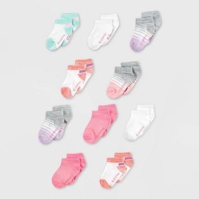 Hanes Toddler Girls' 10pk Low Cut Socks - Colors May Vary