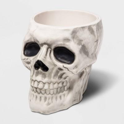 White Skull Bone Halloween Candy Bowl - Hyde & EEK! Boutique™