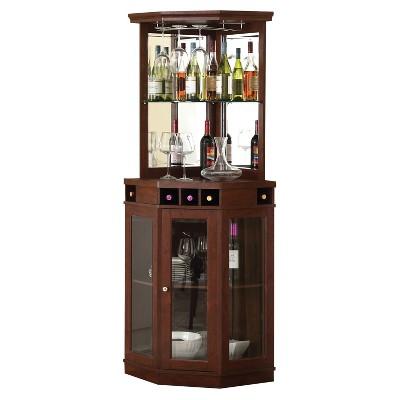 Corner Bar Unit - Mahogany - Home Source