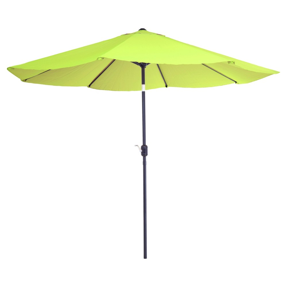 Image of 10' Aluminum Patio Umbrella with Auto Tilt-Lime Green - Pure Garden, Green Green