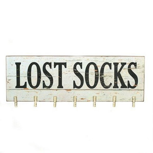 Lost Socks Wall Dcor with Clothespins - 3R Studios - image 1 of 3