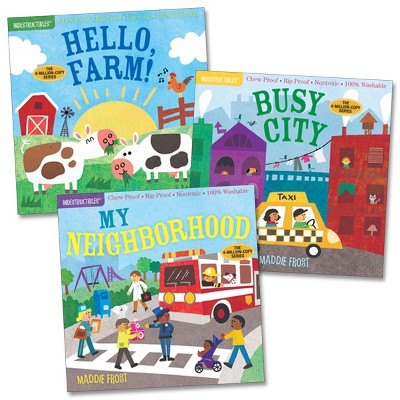 Workman Publishing Company Indestructibles Community Picture Books - Set of 3