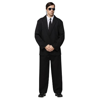Adult Black Suit Halloween Costume One Size