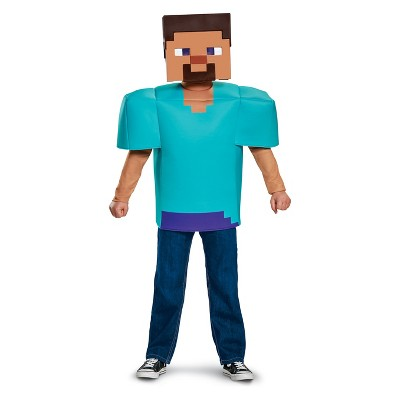 Kidsu0027 Minecraft Steve Classic Halloween Costume M (7 8)