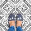 RoomMates Santorini Peel & Stick Floor Tiles Black & White - image 3 of 3
