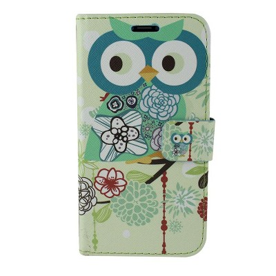 Apple iPhone X Case, by Insten Owl Stand Folio Flip Leather [Card Slot] Wallet Flap Pouch Case Cover For Apple iPhone X, Multi-Color by Eagle