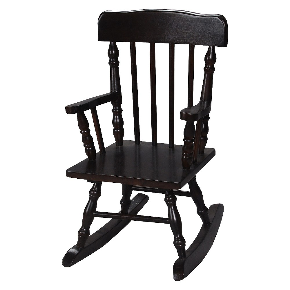 Image of Gift Mark Children's Colonial Rocking Chair - Espresso