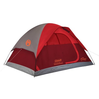 Coleman Flatwoods II 4 Person Tent - Red