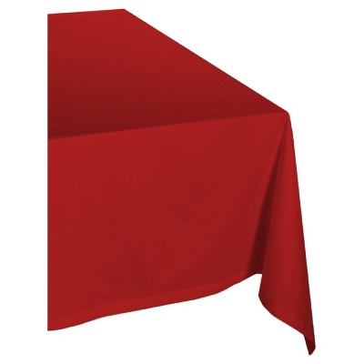 Red Polyester Tablecloth (52 x70 )- Design Imports