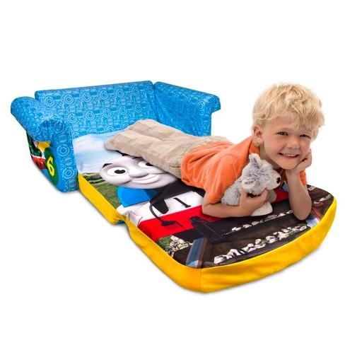 Marshmallow Furniture Children S 2 In 1 Thomas The Tank Engine Flip Open Foam Sofa Target