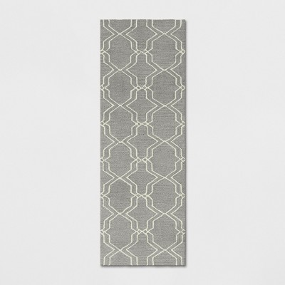 2'4 X7' Trellis Tufted Accent Rugs Gray - Threshold™