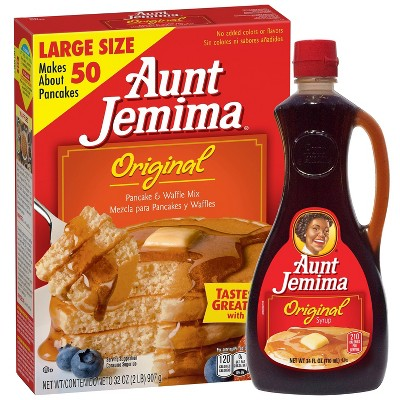 Aunt Jemima Original Pancake & Waffle Mix and Syrup Bundle