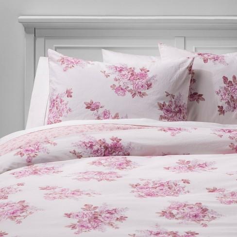 Cactus Rosebloom Duvet & Sham Set Pink Blush - Simply Shabby Chic® - image 1 of 6