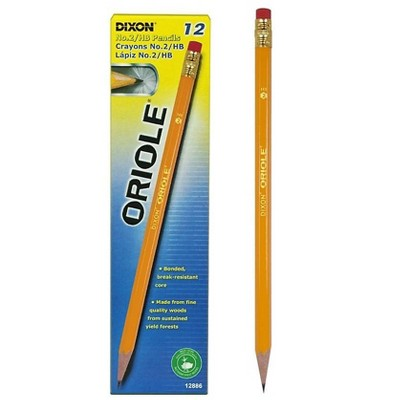 Dixon Oriole Wooden Pencils No. 2 Soft Lead Dozen (12886) 573932