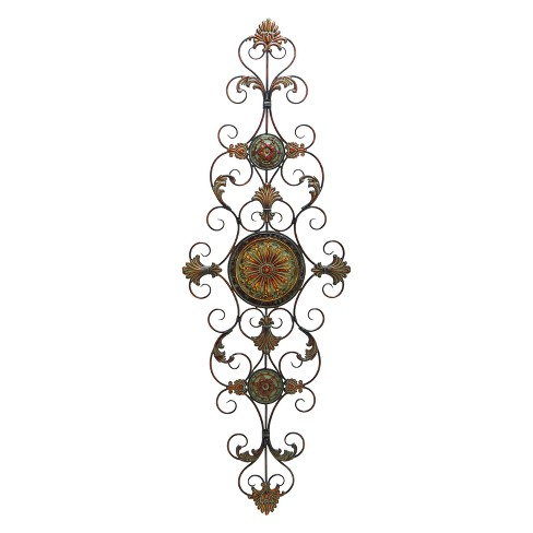 Metal Scroll Decorative Wall Art 55 X 19- Olivia & May - image 1 of 2