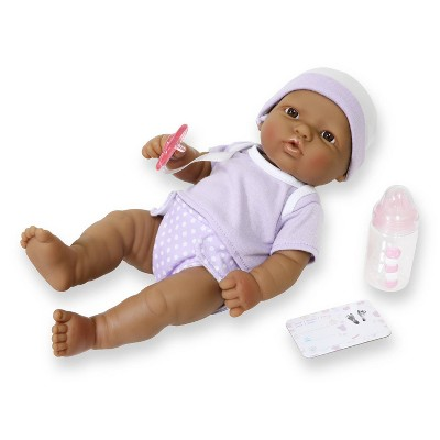 "JC Toys La Newborn 12"" Hispanic All Vinyl Nursery Gift Set Doll"