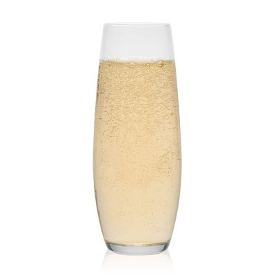 Libbey Stemless Flute Glasses 9.6oz - Set of 6