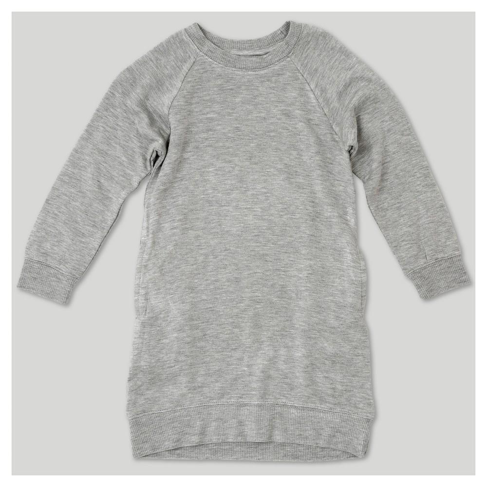 Toddler Girls' Afton Street Sweatshirt A Line Dress Heather Gray 5T