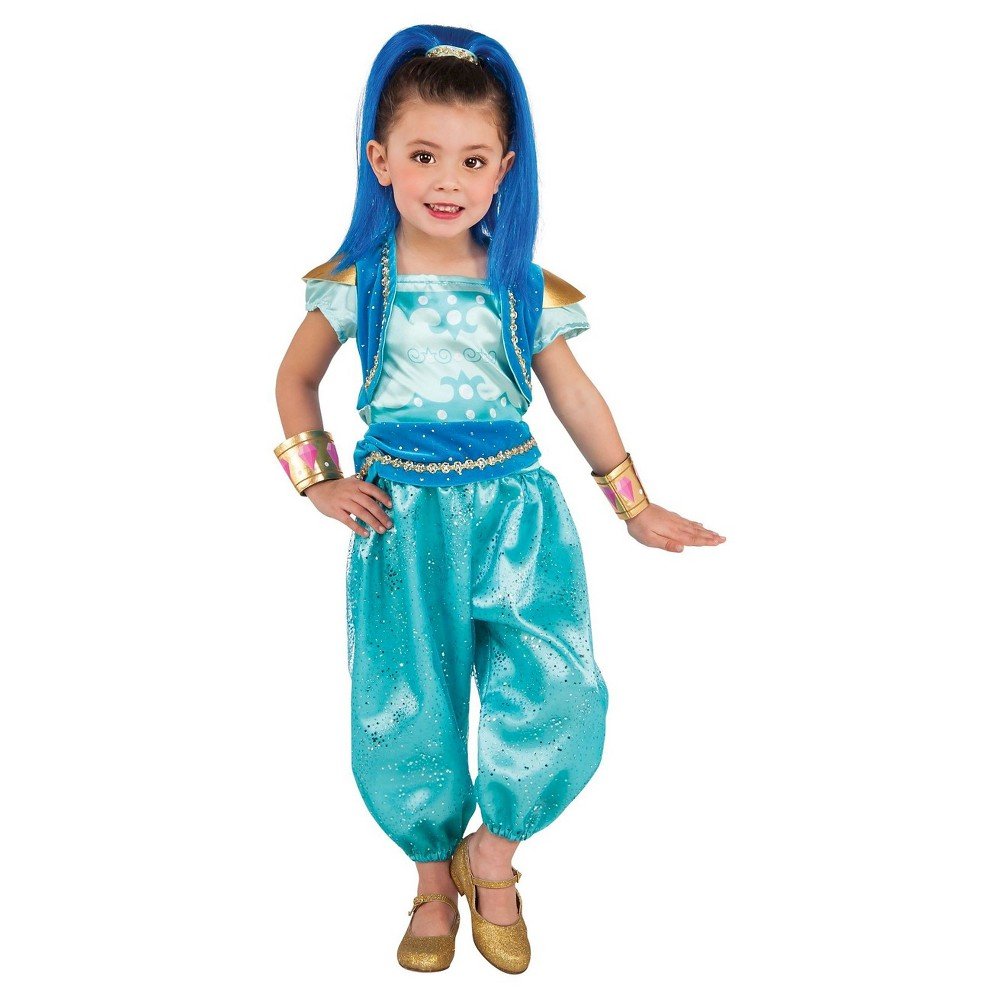 Image of Halloween Girl's Shimmer & Shine: Shine Deluxe Toddler Costume - XS, MultiColored