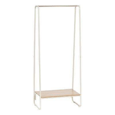 IRIS Garment Rack with Wood Shelf