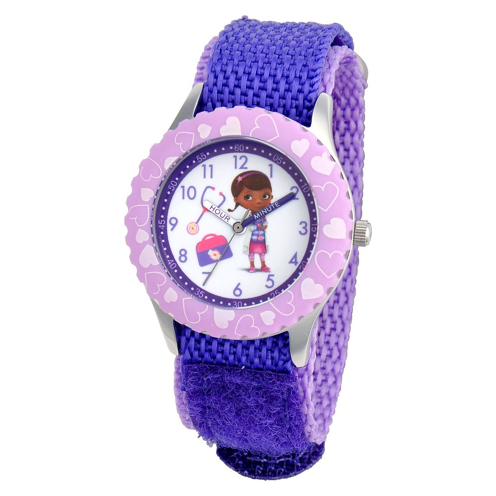 Image of Kid's Disney Doc McStuffins Watch - Purple, Women's, Size: Small
