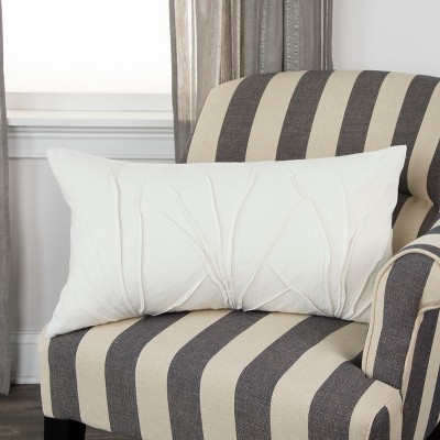 Textured Solid Decorative Filled Oversize Lumbar Throw Pillow - Rizzy Home : Target