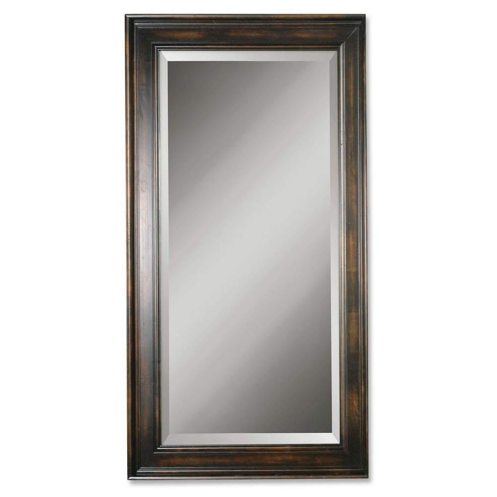Image of Rectangle Palmer Dark Wood Decorative Wall Mirror Mahogany - Uttermost
