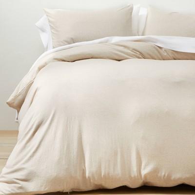 Full/Queen Jersey Duvet Cover & Sham Set Off-White - Casaluna™