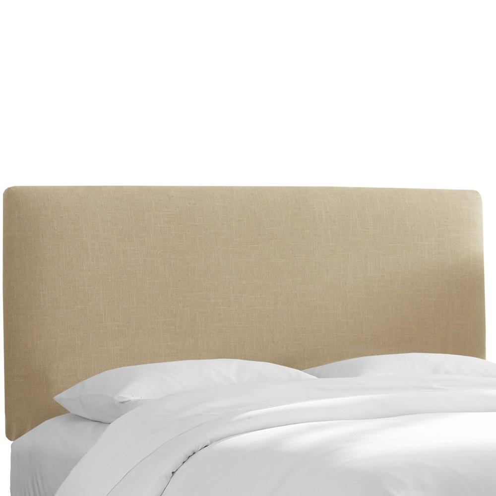 Queen Olivia Upholstered Headboard Tan Linen - Cloth & Co.