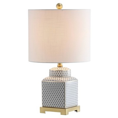 "21.5"" Ceramic/Metal Cleo Ginger Jar Table Lamp (Includes LED Light Bulb) - JONATHAN Y"