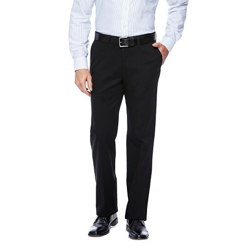 Haggar H26 - Men's Straight Fit No Iron Pants Black 34x32 - image 1 of 2