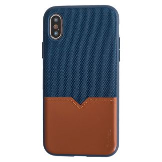 Evutec Apple iPhone X/XS Northill Case (with Car Vent Mount) - Blue Saddle
