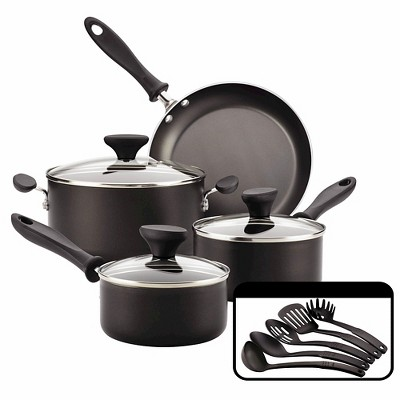 Farberware Reliance 12pc Nonstick Cookware Set Black