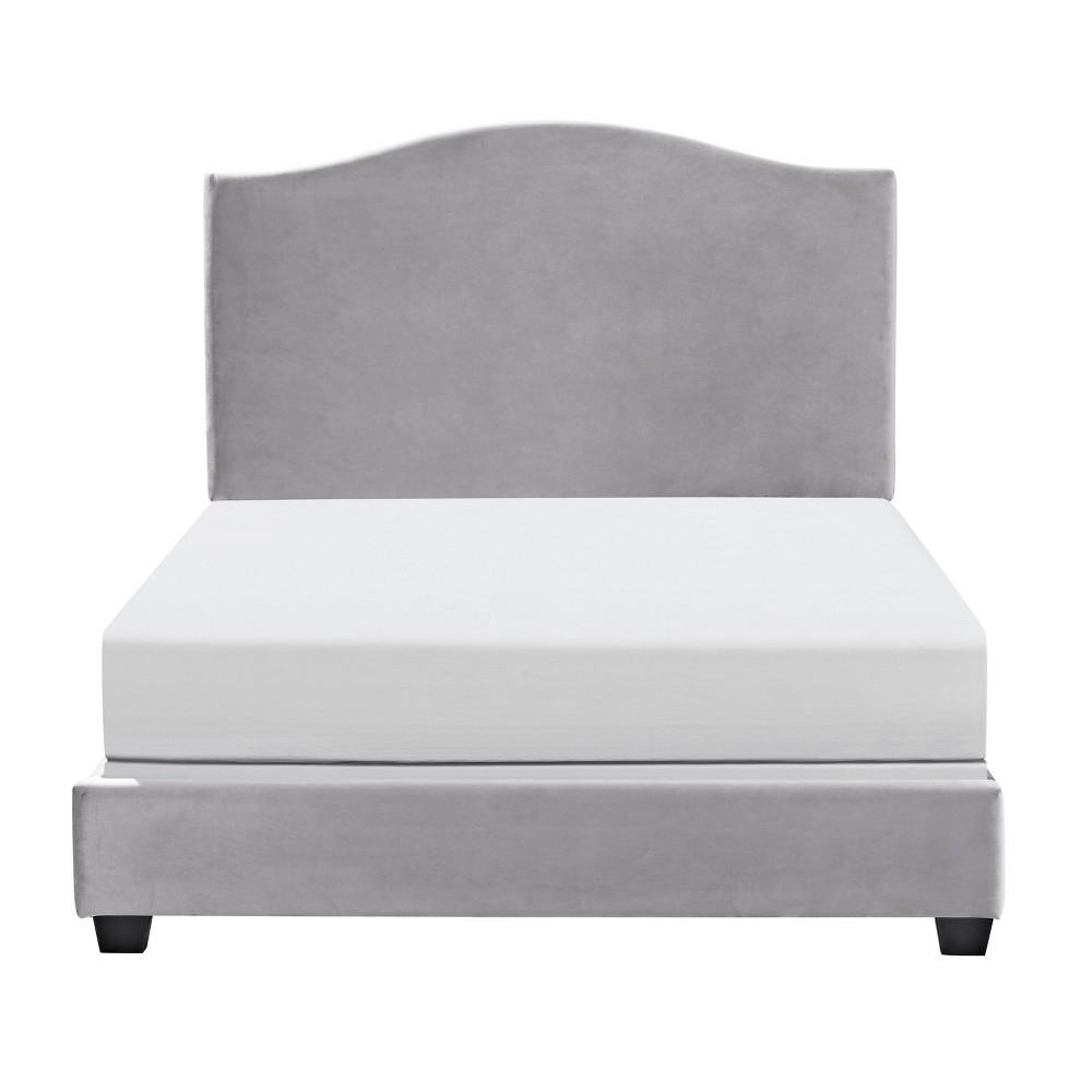Bellingham Camelback Upholstered Queen Bedset Shale - Crosley
